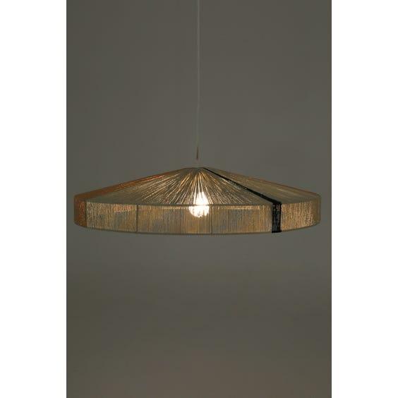 Midcentury string lamp with black stripe image