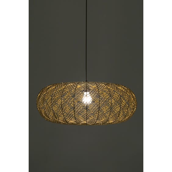 Gold crochet pendant lamp image