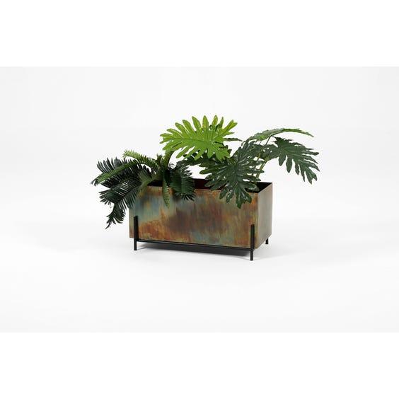 Modern burnished brass planter image