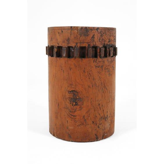 Solid hardwood plinth with cog teeth image