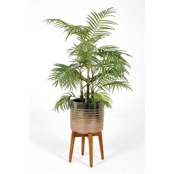 Tall pewter ceramic planter image