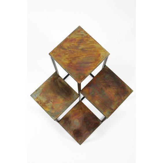 Burnished brass plant stand image