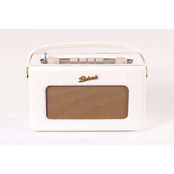Roberts white leather radio image