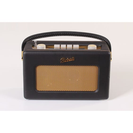Roberts black leather radio image