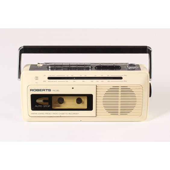 Roberts cream radio cassette image