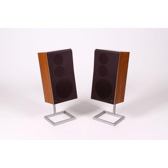Vintage 1970s teak speakers image