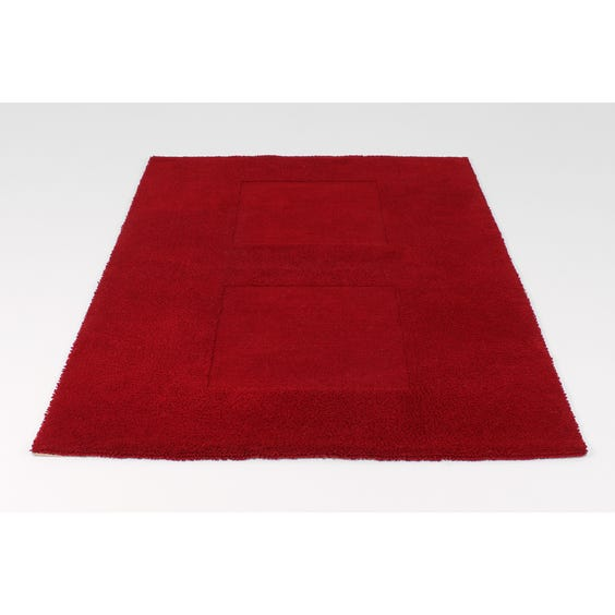 Bright red cut out rug image