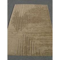 Brown beige geometric pattern rug
