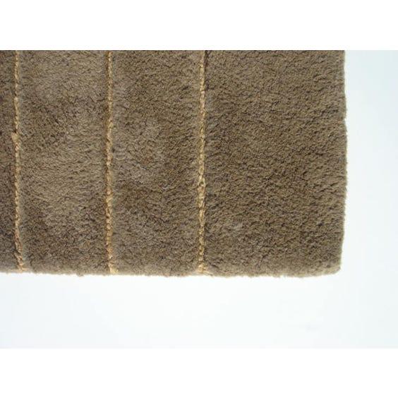 Brown beige geometric pattern rug image