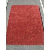 Simple burgundy rug