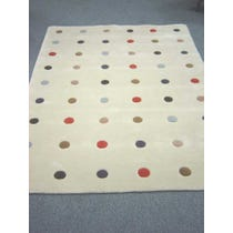 Modern multi-coloured spotted rug