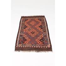 Kelim 'S' patterned runner rug