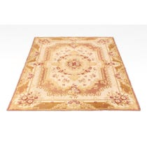 Period needlepoint floral cream rug