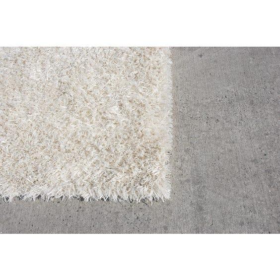 Large cream shag pile rug image
