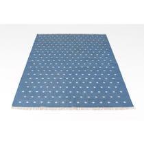 Blue woven diamond Durri Rug