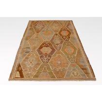 Kelim diamond patterned rug