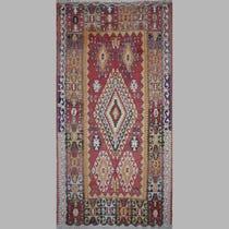 Large traditional diamond Kelim rug