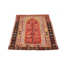 Traditional alien patterned Kelim rug