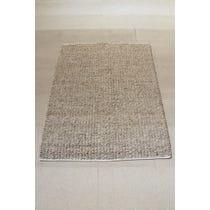 Oatmeal natural wool woven rug