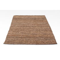 Natural woven jute rug