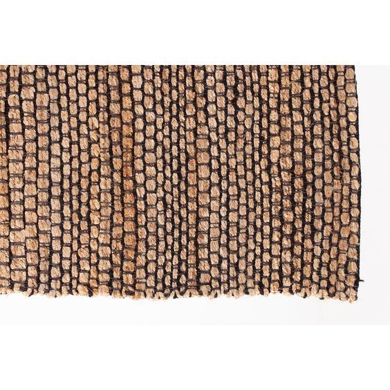 Natural woven jute rug image