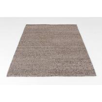Grey herringbone woven wool rug