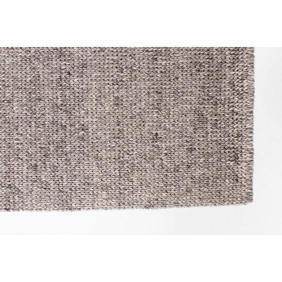 Grey herringbone woven wool rug image