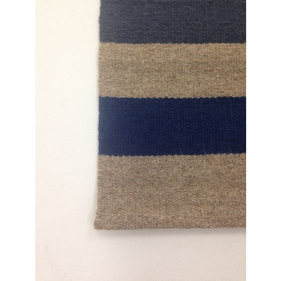 Multi coloured striped weave rug image