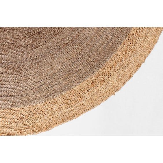 Pewter straw twisted hemp circular rug image