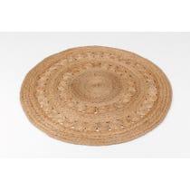 Doily straw twisted hemp circular rug