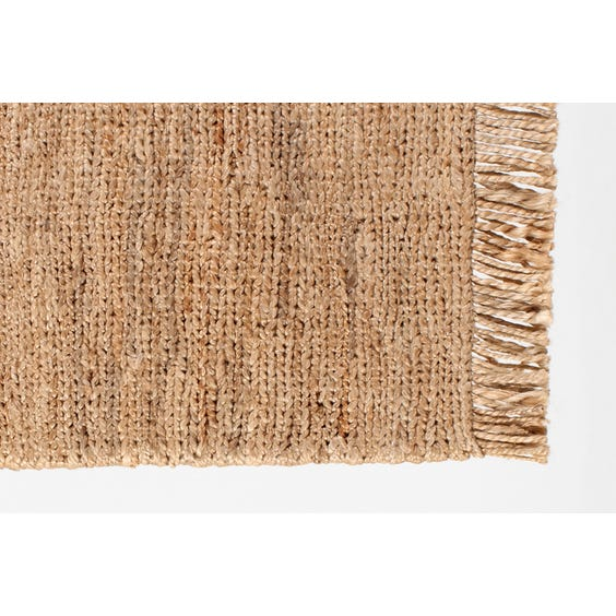 Straw hemp tassled door mat image