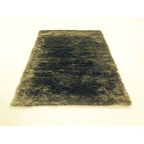 Two tone grey fur texture rug