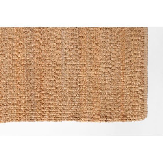 Straw twisted woven hemp rug image