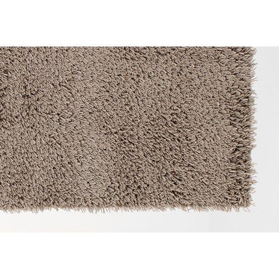Pale khaki shag pile wool rug image