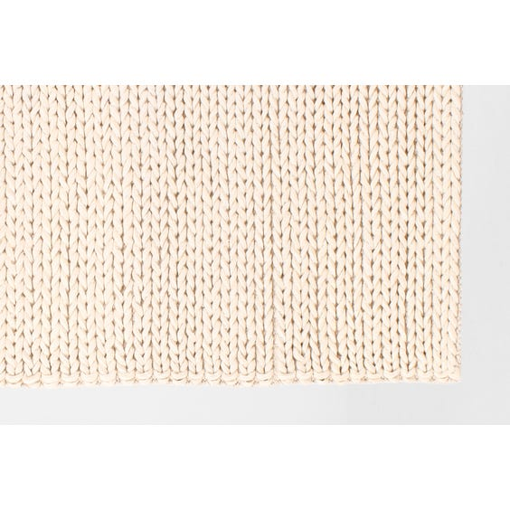 Cream chunky plaited wool rug image