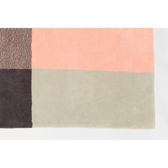 Grey, pink and yellow rug image
