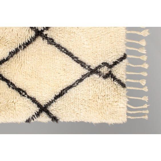 Thick Berber style cream rug image
