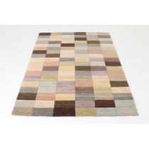 Modern pastel multi coloured rug