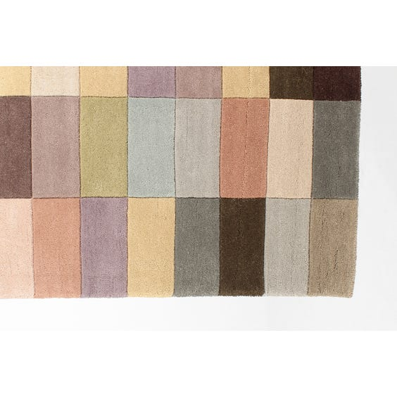 Modern pastel multi coloured rug image