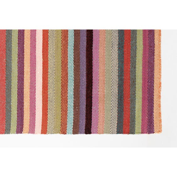 Warm colours striped woven rug image