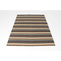Cool colour striped woven rug