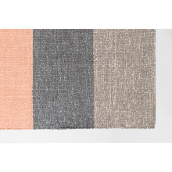 6 stripe woven rectangular rug image