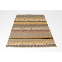 Woven jute ethnic striped rug