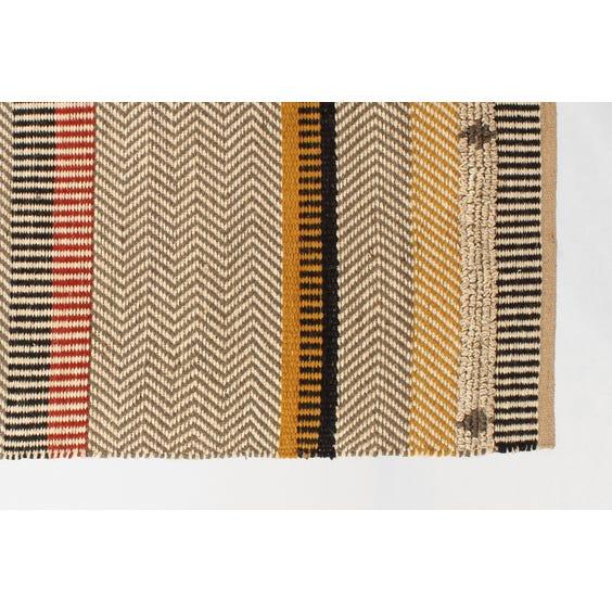 Woven jute ethnic striped rug image