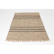 Grey woven diamond jute rug