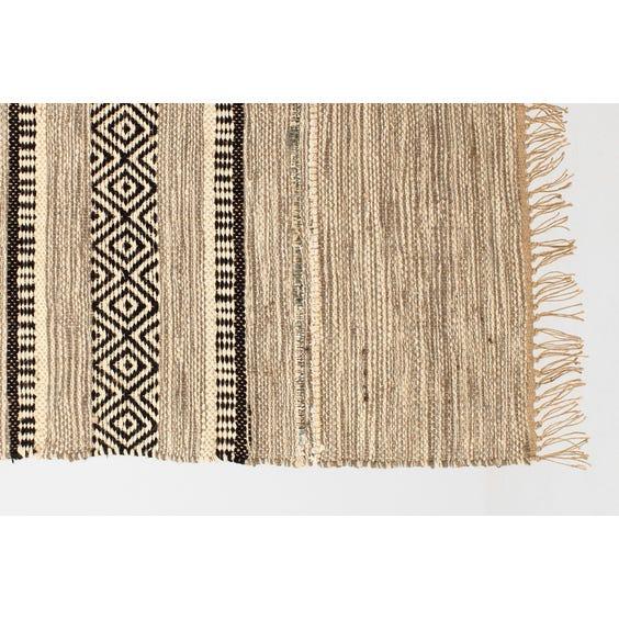 Grey woven diamond jute rug image