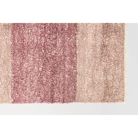 Dusty pink knotted pile rug image