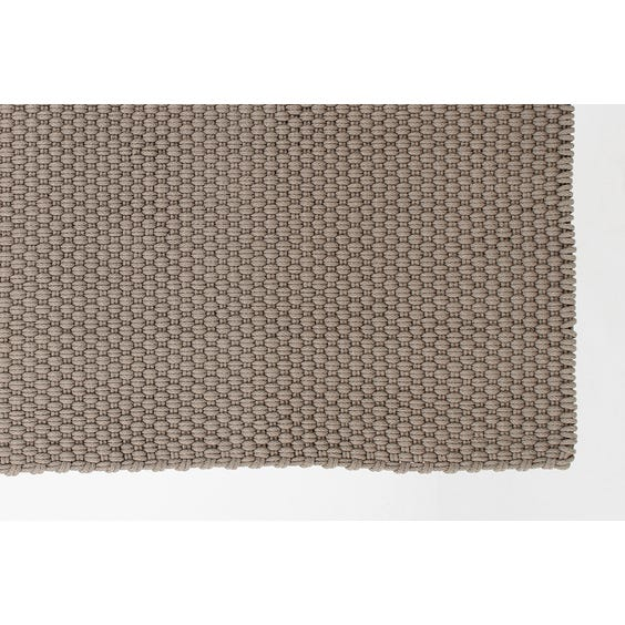 Mid warm grey rope woven rug image