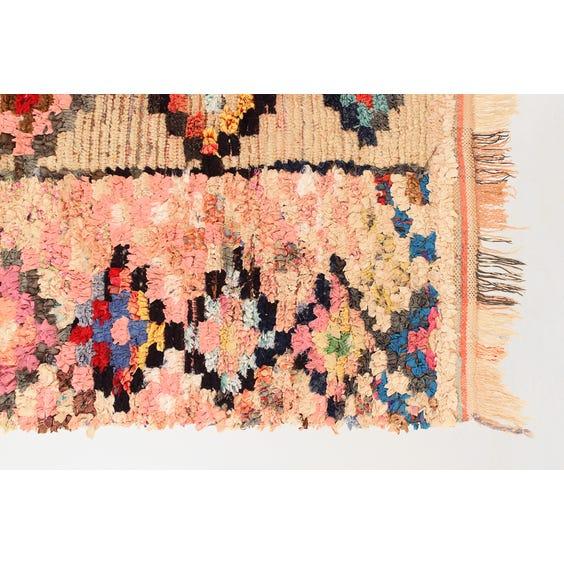 Pink Moroccan boucherouite rug image