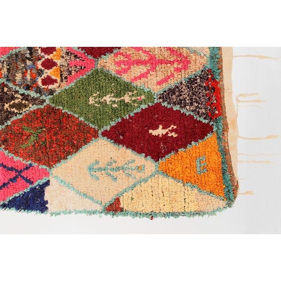 Multicolour Moroccan boucherouite rug image